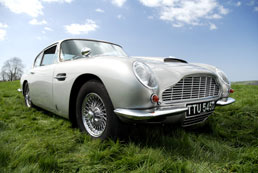 Aston Martin DB6 for hire - Honeymoon Idea