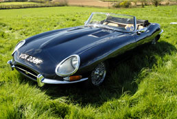 Jaguar E type Convertible for hire - 60th Birthday Gift Idea