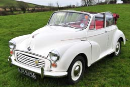 Morris Minor Convertible for hire - Anniversary Gift Idea